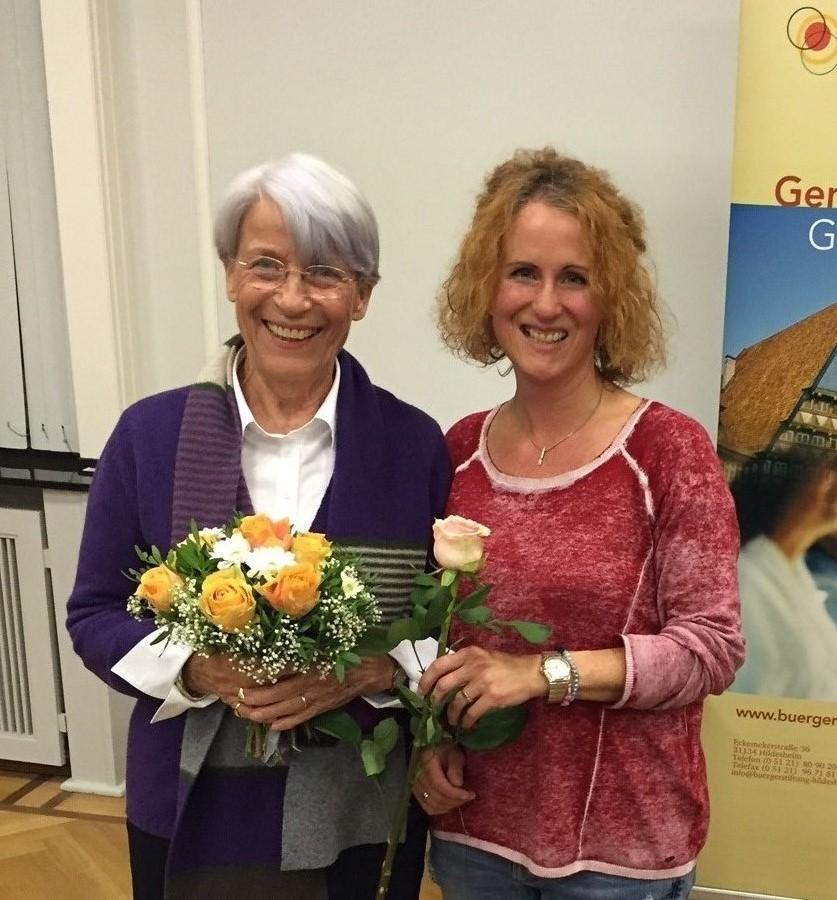 Stiftervers. 2015 Frau Hilgert und Frau Groß